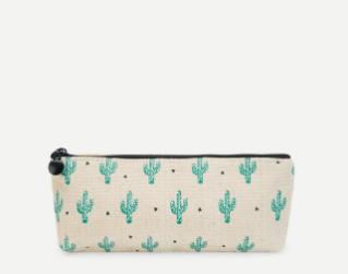 Cactus Print Pencil Bag Case
