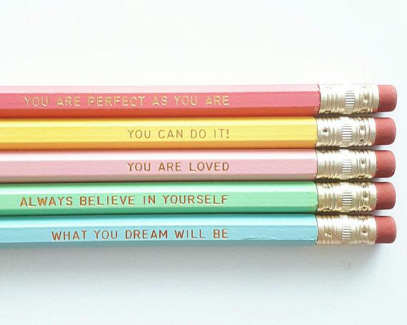 Rainbow Engraved Pencils