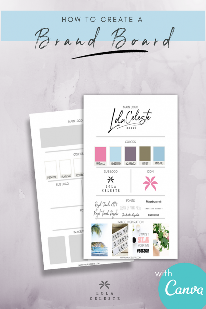 Admire those accounts with a professional pulled together online look? After creating your brand board you will also have just as polished and cohesive look as those businesses you admire. Easily create a brand style board and take your business to a new level. Also get the free brand board template editable with Canva download. #canvatemplates #branding #brandboard #moodboard #styleboard #freelayout